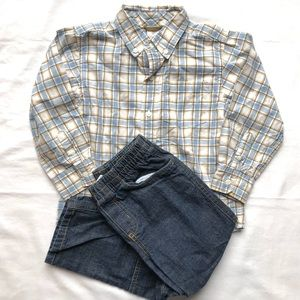 Gymboree 4T Button-down Shirt & Wonder Kids Jeans